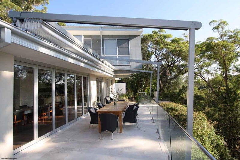 casetsudy helioscreen opening roof system for bush front home 3 Helioscreen